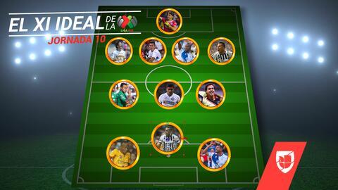 Cruz Azul, Pachuca y Rayados se llevan las palmas en el XI ideal de la Jornada 10