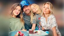 En familia, con Irina Baeva y sus dos hijas, Gabriel Soto celebró su cumpleaños 46