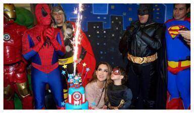 Las fotos del cumpleaños del hijo de Ninel Conde al que fueron Marjorie de Sousa y su pequeño Matías