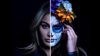 Transformadas en catrinas: el espectacular reto de maquillaje de NBL por el Día de Muertos