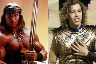 Joseph Baena es idéntico a Arnold Schwarzenegger