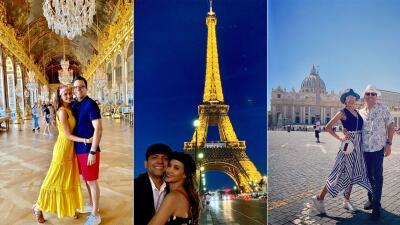 EN FOTOS: Los momentos mágicos de Omar y Argelia en París y Roma