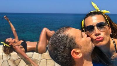 Posando para su esposo Alan Tacher, Cristy Bernal luce los resultados de su intensa rutina de entrenamiento
