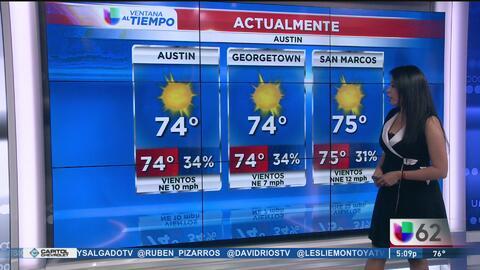 Cielos despejados con temperaturas agradables en Austin