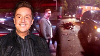 Daniel Bisogno se ve involucrado en accidente de tránsito donde motorizado resulta mal herido