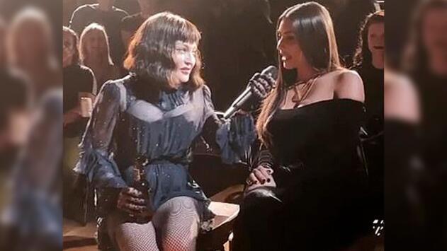 Kim Kardashian se roba la atención en un concierto de Madonna y en 'backstage'