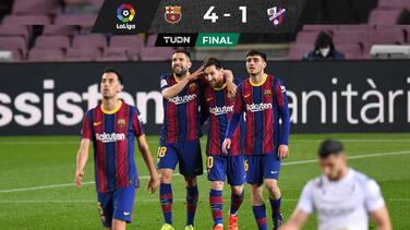 Barça se pone en el retrovisor del Atleti con golazos de Messi
