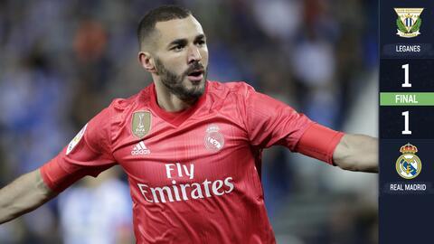 ¿Y si no estuviera Benzema? Real Madrid rescató punto en Leganés