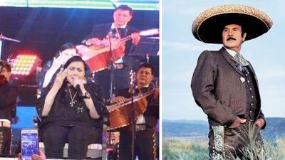 Flor Silvestre, la viuda de Antonio Aguilar le canta entre lágrimas en el décimo aniversario de su muerte