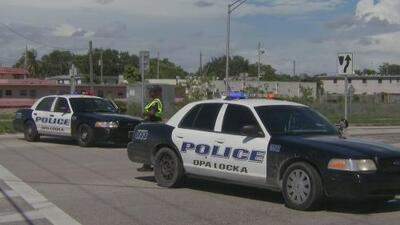 Tres personas resultaron heridas tras un aparatoso accidente vehicular en Opa-locka