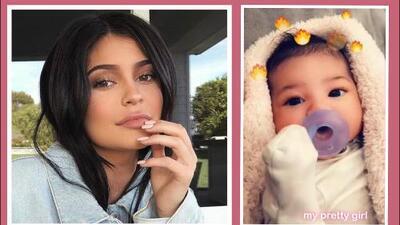 Mira el rostro de la pequeña Stormi, la hija recién nacida de Kylie Jenner