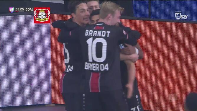 Kevin Volland no perdona y el Leverkusen pone el 2-1 en el marcador