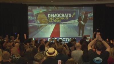 Así se vivió la noche de elecciones en la sede demócrata
