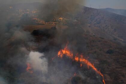 Las llamas iniciares del incendio Blue Ridge fueron impulsadas por los poderosos vientos de Santa Ana que azotaron la región.