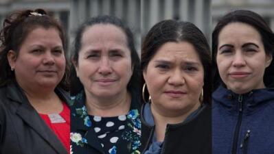 Estas mujeres con TPS cocinan la comida y limpian las mesas de los funcionarios y políticos que podrían deportarlas
