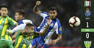Porto recupera liderato tras vencer al Tondela con Herrera y Corona en la cancha