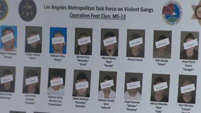 Autoridades presentan cargos contra 22 presuntos pandilleros de la MS-13 por crimen organizado y sangrientos asesinatos