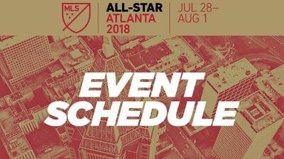 Este es el calendario de eventos vinculados al MLS All-Star Game que se llevará a cabo en Atlanta