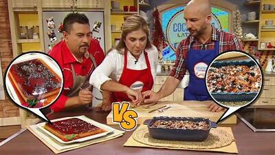 Guerra de postres: pudín de pan viejo del chef Miguel Rebolledo vs. 'capirotada' del chef Chile Mayor