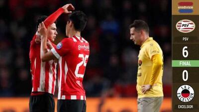 ¿Castigo para el 'Chucky'? Lozano tiene mal partido, pero el PSV arrolla al Excélsior