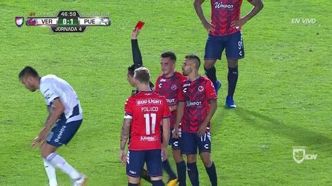 ¡Expulsión! El árbitro saca la roja directa a Rodrigo López