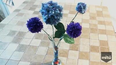 Decora tu casa con flores hechas de estambre