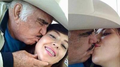 Fotos de Vicente Fernández besando a una jovencita en la boca causan controversia