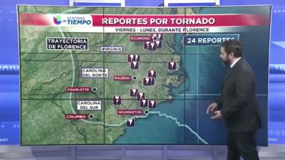 Además de lluvias e inundaciones, Florence produjo un aumento en los tornados