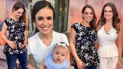 Con gran ilusión, Andrea Chediak valora los consejos de maternidad de Carolina Sarassa