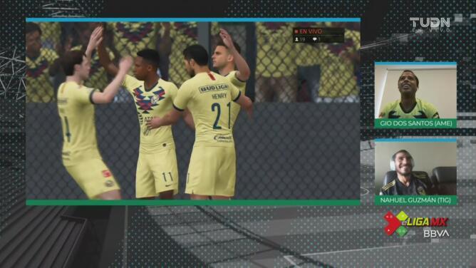 ¡Partidazo! Jugadón de Gio e Ibargüen define para el 3-2 ante Nahuel