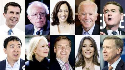 Los de más experiencia y los más desconocidos: los que participan en la segunda jornada del debate demócrata