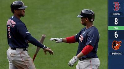 Devers pegó jonrón para Boston en la décima y Red Sox derrotó a Orioles