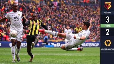 Jiménez hizo golazo a lo Manuel Negrete, pero su Wolverhampton se colapsó en FA Cup