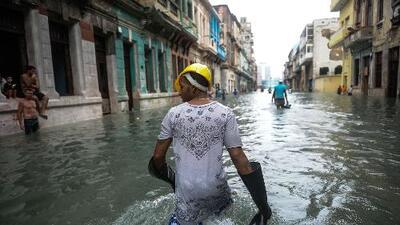 La Habana, Cuba, en completa inundación tras el paso de Irma