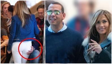 ¿Qué infidelidad? Jennifer López y A-Rod se muestran más unidos que nunca... literalmente