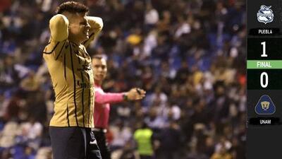 ¡Encamotados! Pumas cae en Puebla y se aleja de la Liguilla