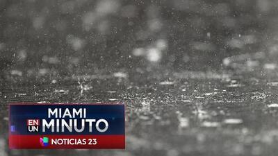 'Miami en un Minuto':  alerta por tormenta tropical Emily en una tramo de la costa de Florida