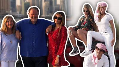 Tan lejos y tan cerca: así van las vacaciones exóticas de Lili y Raúl en el Golfo Pérsico