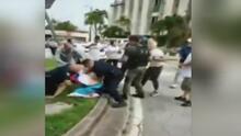 Manifestación de miembros del exilio cubano en Coral Gables terminó en enfrentamientos y arrestos