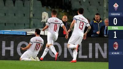 El Milan gana en visita a la Fiorentina y se ilusiona con la Champions