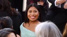 Así llegó Yalitza Aparicio a la alfombra roja de los premios Oscar