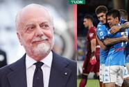 De Laurentiis festeja el triunfo del Napoli y el gol del Chucky