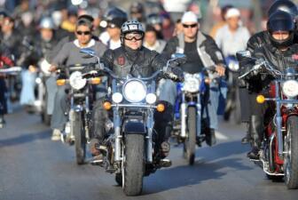 Peregrinación de motociclistas en Guatemala