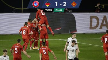 ¡Histórico! Macedonia derrotó a Alemania en Eliminatoria a Catar 2022