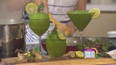 La receta: limonada saludable y piña enchilada