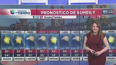 Sacramento tendrá condiciones de tiempo tranquilas los próximos días