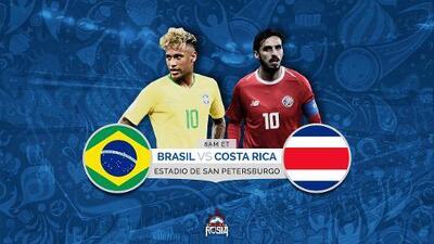 Costa Rica busca sobrevivir ante un Brasil que necesita convencer