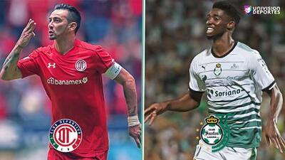 Las alineaciones de Toluca y Santos para la gran final