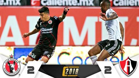 Tijuana 2-2 Atlas – RESUMEN Y GOLES – Clausura 2018 Liga MX