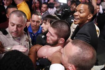 En fotos: el final escandaloso entre Khabib Nurmagomedov y Conor McGregor